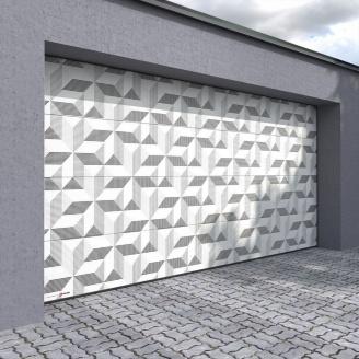 Гаражні секційні ворота KRUZIK Flat Dura Print Unico 9