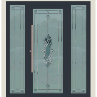Алюминиевые фасадные двери m-1168-1
