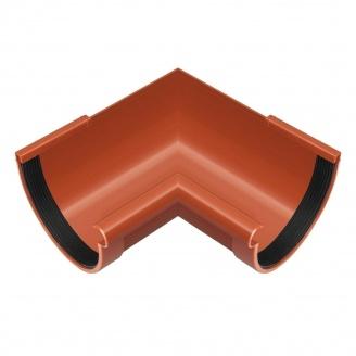 Угол желоба внутренний Rainway 90 градусов 90 мм кирпичный