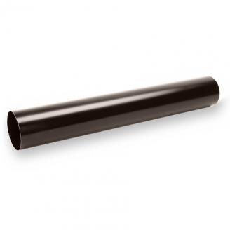 Водосточная труба Galeco STAL120 90 мм 3 м (SS090-RU300-G) (RAL8019/темно-коричневый RR32)