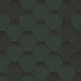 Битумная черепица Aquaizol Мозаика 320х1000 мм Зеленая микс