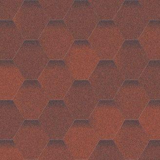 Битумная черепица Aquaizol Мозаика 320х1000 мм огненная лава