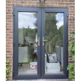 Двері вхідні скляні шостикамерний профіль WDS 1400х2000 мм