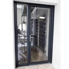 Двері вхідні скляні WDS 1400х2100 мм з однокамерним склопакетом