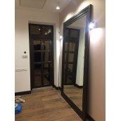 Зеркало дизайнерское  с 3х ступенчатым багетом 150 мм