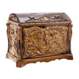 Скриня дерев'яна різьблена Гюмрі ДС-2 90х49х71 см
