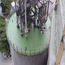 Гідроізоляція покрівлі резервуару РВС рідкою поліуретановою гумою