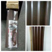 Дверь гармошка ширма дуб темный 820х2030х0,6 мм гармошка раздвижная межкомнатная пластиковая