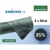 Полімерна сітка для затінення 85% 2х50 м