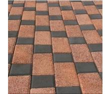 Тротуарная плитка Золотой Мандарин Меланж Квадрат 100х100х80 мм жемчуг