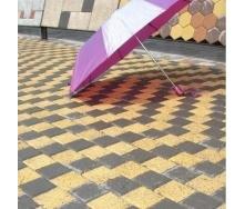 Тротуарна плитка Золотий Мандарин Меланж Квадрат 100х100х60 мм танжерин