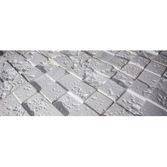 Декоративная плитка 3D KoR Корсика гипсовая белая
