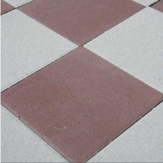 Тротуарна плитка Золотий Мандарин Плита 400х400х60 мм на сірому цементі коричневий