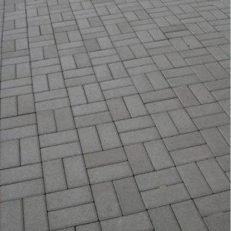 Тротуарна плитка Золотий Мандарин Цегла стандартний 200х100х80 мм сірий