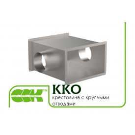 Крестовина с круглыми отводами для воздуховодов AD-KKO