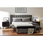 Ліжко Domini Наомі 1,6 кожзам 2275х1940х1125 мм графіт