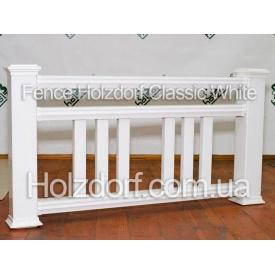 Декоративное ограждение Holzdorf Classic из ДПК белое