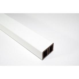 Поперечка огорожі HOLZDORF Глянець з ДПК 35х50х4000 мм біла