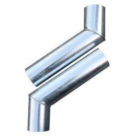 Колено водосточное металлическое оцинкованное 45 градусов