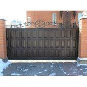 Відкатні ворота з фільонки 4х2 м