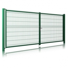 Распашные ворота 3D Light 2030х4000 мм зеленые RAL6005