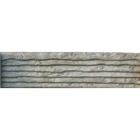 Плита еврозабора Континент Шалевка односторонняя бетонная глухая