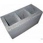 Шлакоблок стіновий Континент сухопрессованный 39х19х19 см без полиці
