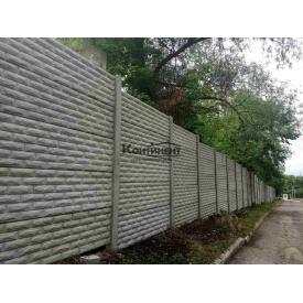 Установка бетонного еврозабора 2,5 м