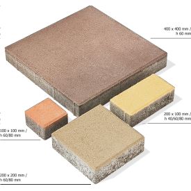 Тротуарная плитка Брусчатка бетонная сухопрессованная 20х10х4 см