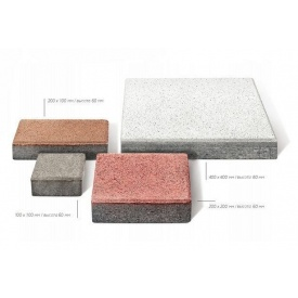 Тротуарная плитка Брусчатка Фьюжн бетонная сухопрессованная 40х40х6 см