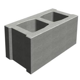 Шлакоблок стіновий Континент сухопрессованный 39х19х19 см
