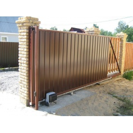 Откатные ворота из профлиста 3х2 м