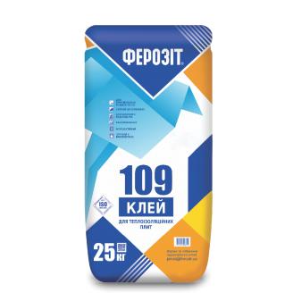 Клей для приклеювання пінопласту та мінвати Ферозіт 109