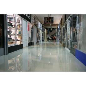 Пристрій підлоги для торгово-виставкових залів і павільйонів