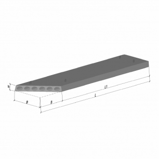 Плита перекриття ПК 38-12-8 К2 582 ТМ «Бетон від Ковальської»