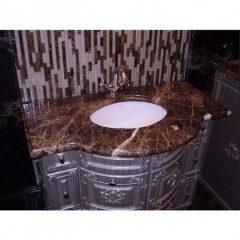 Столешница в ванную из натурального камня