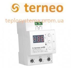 Терморегулятор Terneo sn для управления системой cнеготаяния на DIN-рейку