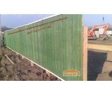 Деревянный строительный забор 2х2 м