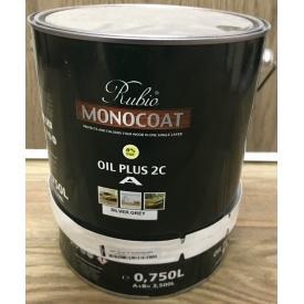 Натуральное масло на основе твердого воска Rubio Monocoat Оил Плюс 2К Силвер Грей 3,5 л