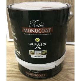 Натуральне масло на основі твердого воску Rubio Monocoat Оіл Плюс 2К Гріс Белге 3,5 л