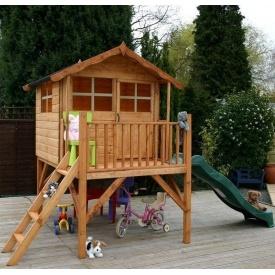 Дитячий будиночок з гіркою №1 сосна 2000х2200х3100 мм