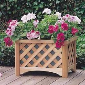 Деревянный вазон для цветов 50х50х40 см