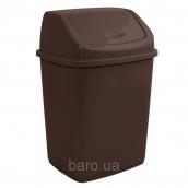 Ведро для мусора 5 л с крышкой темно-коричневый