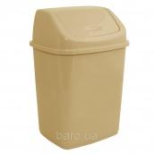 Ведро для мусора 5 л с крышкой кремовый