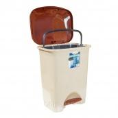 Ведро для мусора с педалью Irak Plastik Stella 45 л бежевое