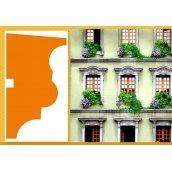 Фасадный наличник из пенопласта с армированием Sangallo Венеция 70х130 мм
