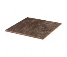 Ступінь кутова клінкерна Paradyz Ilario brown struktura 30x30 см