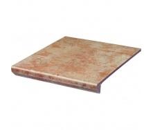 Клінкерний східець з капі носами Paradyz Ilario beige prosta struktura 30x33 см