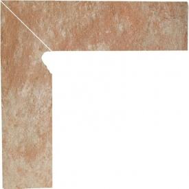Клинкерный цоколь Paradyz Ilario beige lewy 8,1x30 см