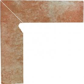 Клинкерный цоколь Paradyz Ilario ochra lewy 8,1x30 см